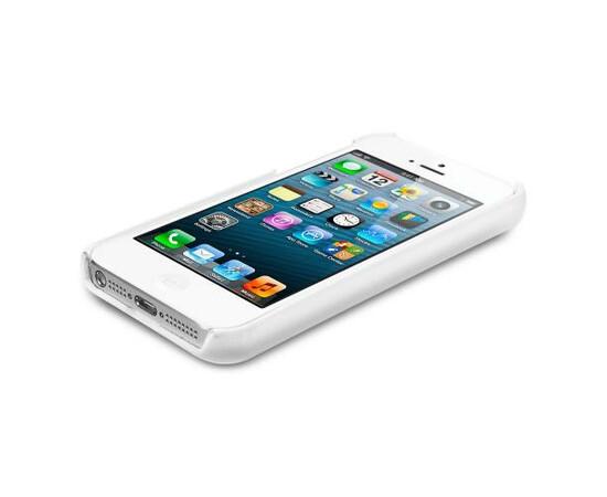 Чехол для  iPhone 5/5S/SE SGP Leather Grip Genuine (White) SGP09602, фото , изображение 3