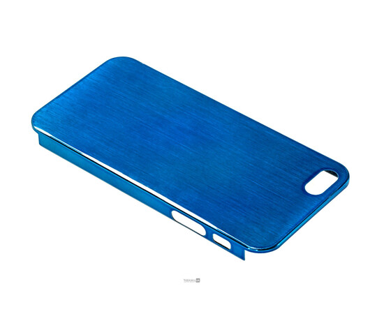 Чехол для iPhone 5/5S/SE Brushed Aluminum Case Slim Series 0.3 mm (Blue), фото , изображение 3