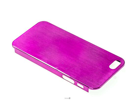 Чехол для iPhone 5/5S/SE Brushed Aluminum Case Slim Series 0.3 mm (Pink), фото , изображение 3