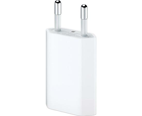 Сетевое зарядное устройство плоское (Европа) для iPhone/iPod- White, фото , изображение 3