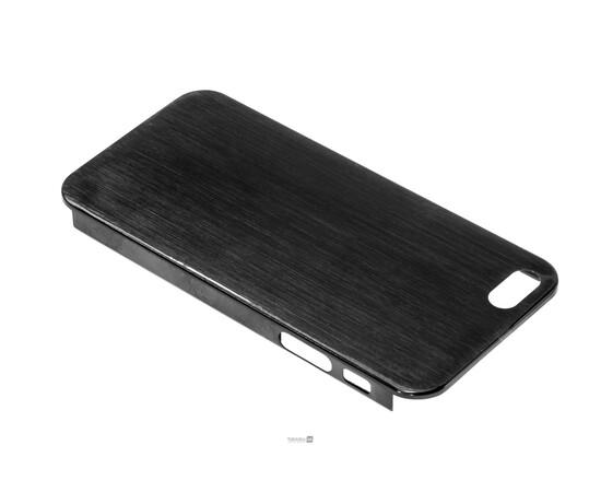 Чехол для iPhone 5/5S/SE Brushed Aluminum Case Slim Series 0.3 mm (Black), фото , изображение 3