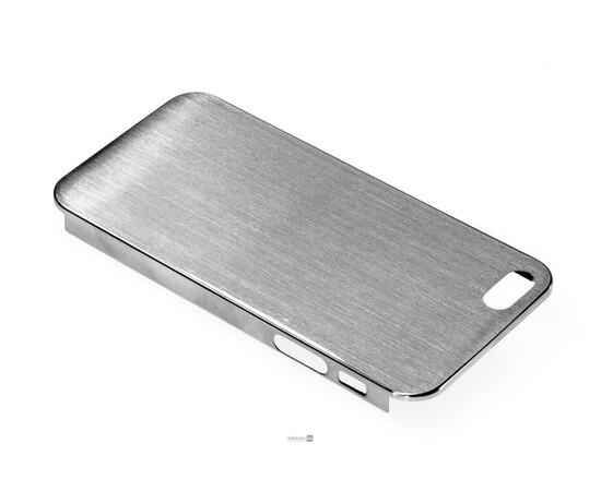 Чехол для iPhone 5/5S/SE Brushed Aluminum Case Slim Series 0.3 mm (Silver), фото , изображение 3