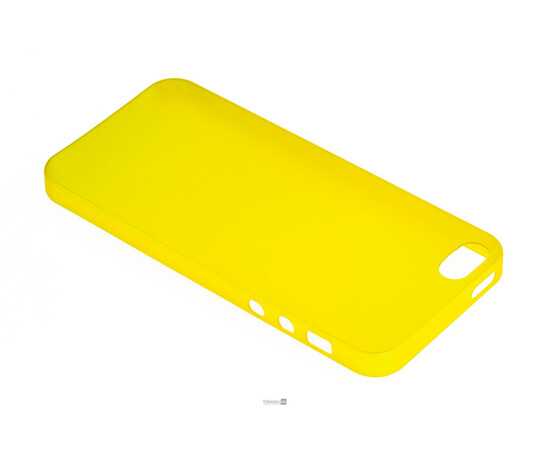 Чехол для iPhone 5/5S/SE Colorful Slim Series 0.3 mm (Yellow), фото , изображение 3
