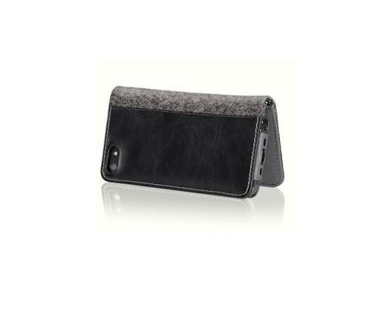 Чехол для iPhone 5/5S/SE More Craft Plus Collection Woolfelt (Black), фото , изображение 2