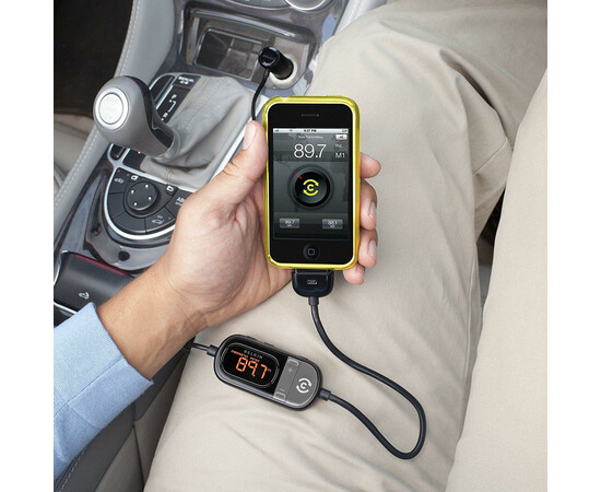 Автомобильное зарядное устройство FM-трансмиттер Belkin TuneCast Auto Livei для Pod/iPhone, фото , изображение 4