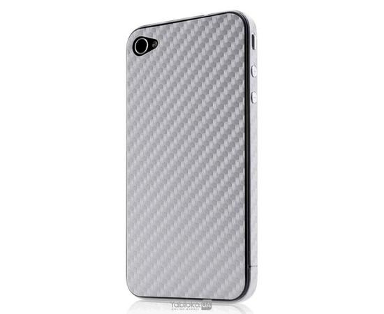 Карбоновая наклейка для  iPhone 4/4S GSW (Grey), фото