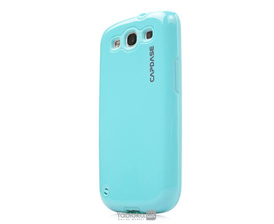 Чехол для Samsung Galaxy S III i9300 Capdase Polimor Jacket Polishe (Ice Blue), фото