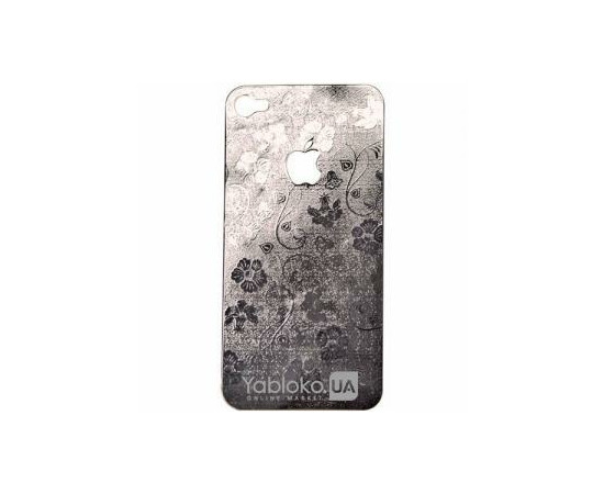 Декоративная наклейка для iPhone 4/4S Metalplate (Silver), фото