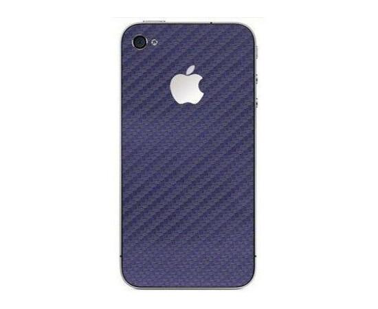 Карбоновая наклейка для  iPhone 4/4S GSW (Blue), фото