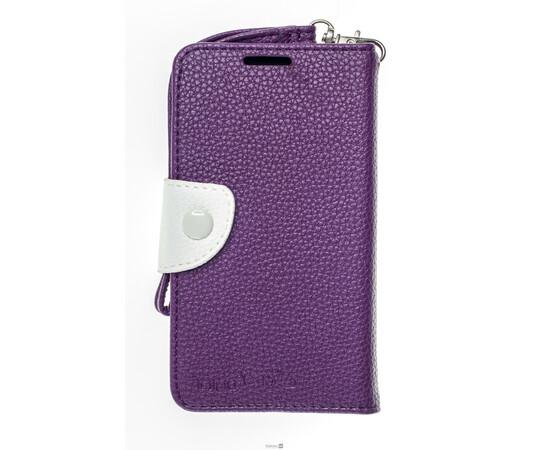 Чехол для Samsung Galaxy S4 Crazy on Digital Card Holder Flip Case Cover (Violet/White), фото