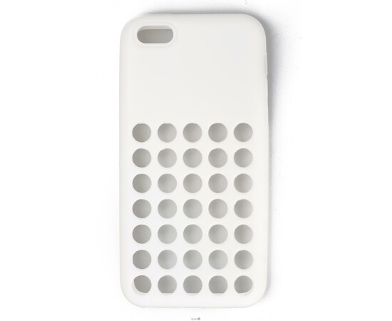 Чехол для iPhone 5C Silicon Back Cover Soft Skin Case (White), фото