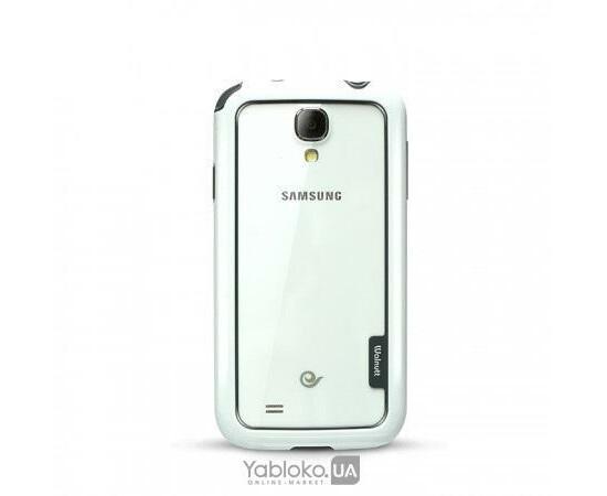 Чехол-бампер для Samsung Galaxy S4 ZENUS Zenus Walnutt Bumper Solid Case (White/Dark Grey), фото