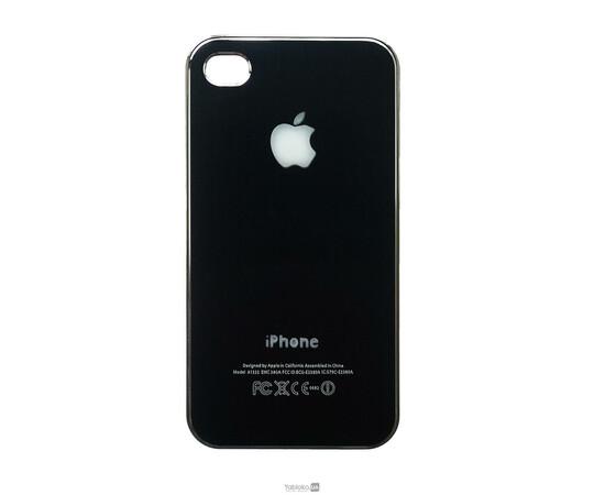 Чехол пластиковый LED для iPhone 4/4S (Black/Silver), фото