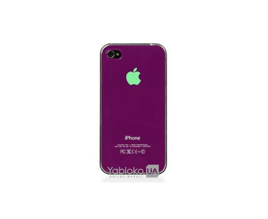Чехол пластиковый LED для iPhone 4/4S (Silver), фото