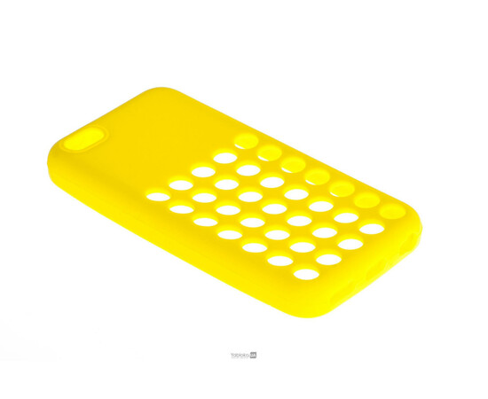 Чехол для iPhone 5C Silicon Back Cover Soft Skin Case (Yellow), фото
