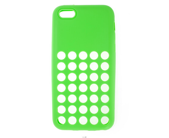 Чехол для iPhone 5C Silicon Back Cover Soft Skin Case (Green), фото
