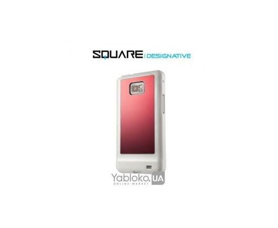 Чехол для Samsung Galaxy S2 Square Designative (Red/White), фото