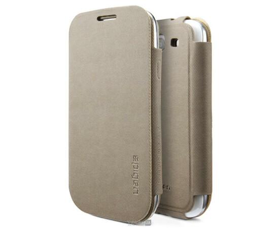 Чехол для Samsung Galaxy S III i9300 SGP Faux Leather Case Folio Series (Sand Brown), фото