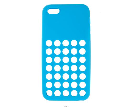Чехол для iPhone 5C Silicon Back Cover Soft Skin Case (Blue), фото