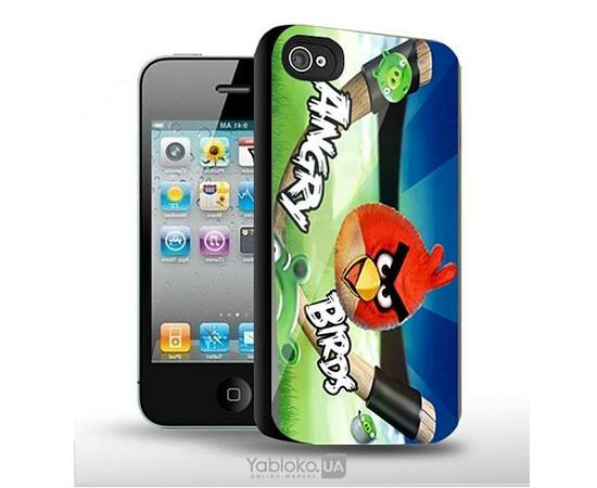 Чехол пластиковый Angry Birds для iPhone 4/4S, фото
