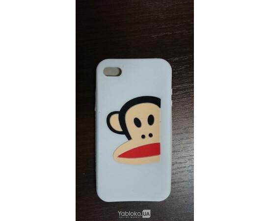 Чехол силиконовый Monkey для iPhone 4 (White), фото