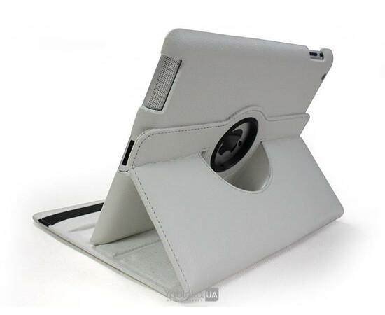 Чехол-подставка для iPad 2/3/4 Magnetic leather Smart Case 360° Rotating (White), фото