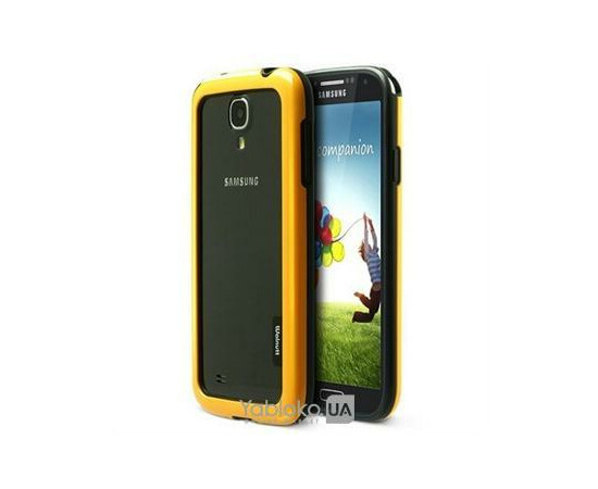Чехол-бампер для Samsung Galaxy S4 ZENUS Zenus Walnutt Bumper Solid Case (Yellow/Black), фото