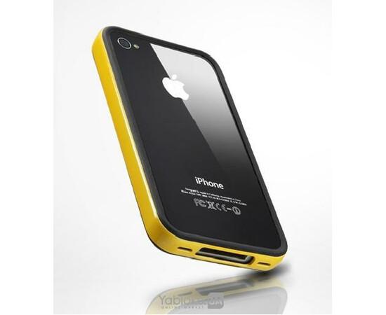 Чехол-бампер для iPhone 4/4S SGP Case Neo Hybrid EX Series Soul Yellow (SGP07024), фото