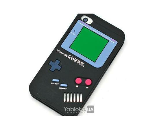 Чехол силиконовый Nintendo Game Boy для iPhone 4 (Black), фото