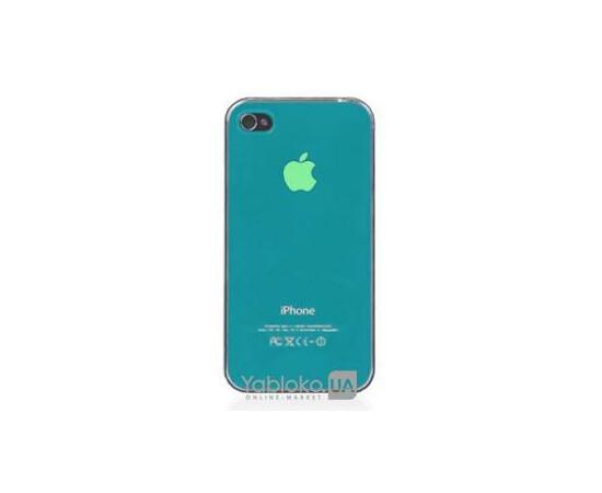 Чехол пластиковый LED для iPhone 4/4S (Blue), фото