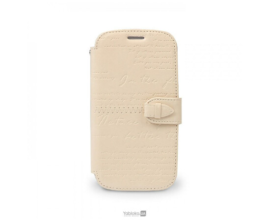 Чехол для Samsung Galaxy S3 ZENUS Masstige Lettering Diary Series (Beige), фото
