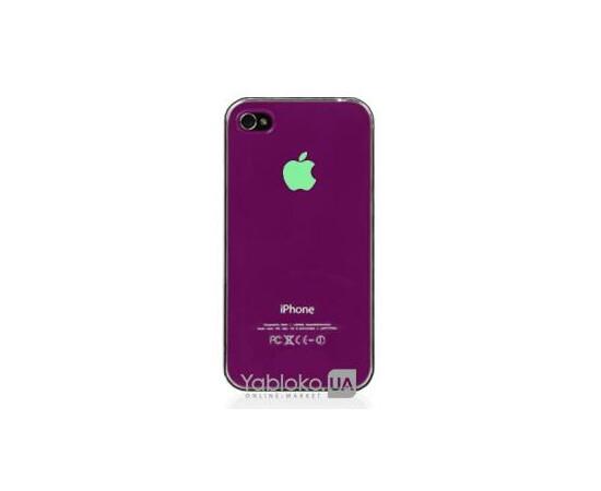 Чехол пластиковый LED для iPhone 4/4S (Pink), фото