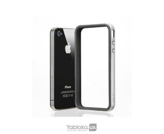 Чехол-бампер для iPhone 4/4S SGP Case Neo Hybrid EX Series (Soul Silver), фото