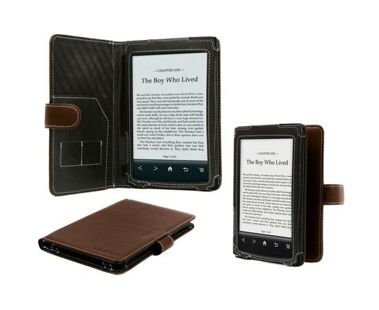 Чехол кожаный для Sony PRS-T1 Navitech (Brown), фото