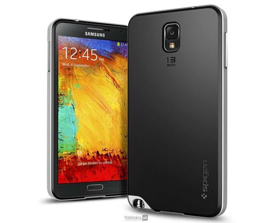 Чехол для Samsung Galaxy Note3 N9000 SGP Neo Hybrid Case (Silver), фото