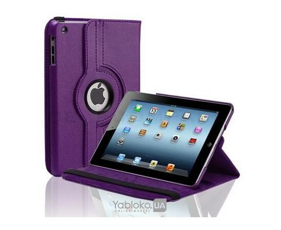 Чехол-подставка для iPad 2/3/4 Magnetic leather Smart Case 360° Rotating (Purple), фото