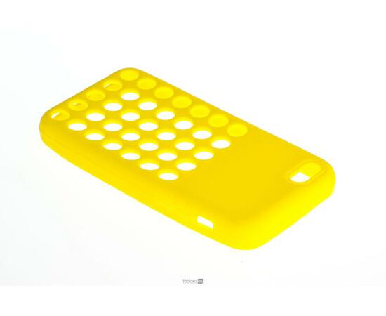 Чехол для iPhone 5C Silicon Back Cover Soft Skin Case (Yellow), фото , изображение 2