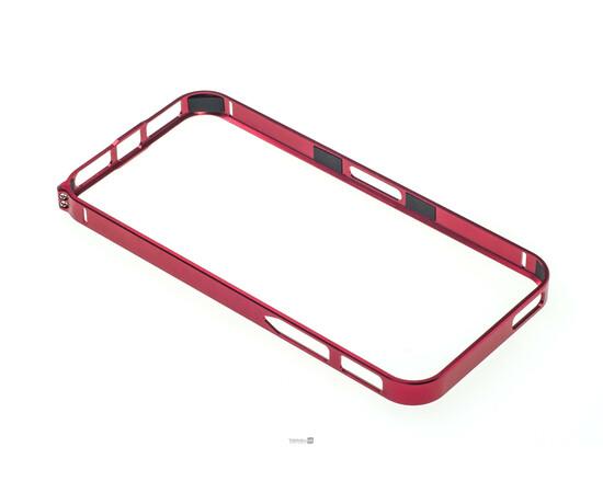Чехол-бампер для iPhone 5/5S Cross-Line Aluminum Ultra Thin Bumper 0.7 mm (Red), фото , изображение 2