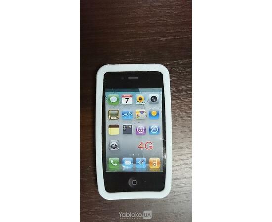 Чехол силиконовый Monkey для iPhone 4 (White), фото , изображение 2