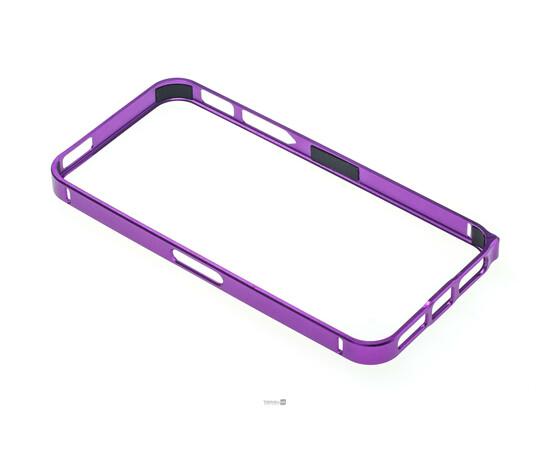 Чехол-бампер для iPhone 5/5S/SE Cross-Line Aluminum Ultra Thin Bumper 0.7 mm (Purple), фото , изображение 2