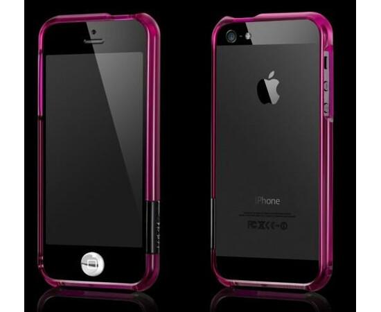 Чехол-бампер для iPhone 5/5S/SE More Color Gem Lucent (Fuchsia), фото