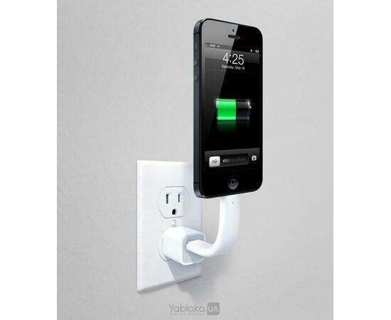 Кабель-подставка Apple Lightning to USB Cable Trunk вид с телефоном
