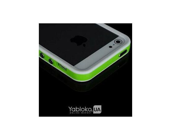 Чехол-бампер Aplove for iPhone 5 (White/Green), фото , изображение 2