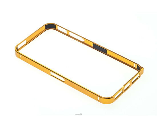 Чехол-бампер для iPhone 5/5S Cross-Line Aluminum Ultra Thin Bumper 0.7 mm (Gold), фото , изображение 2
