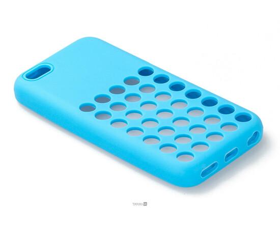 Чехол для iPhone 5C Silicon Back Cover Soft Skin Case (Blue), фото , изображение 2