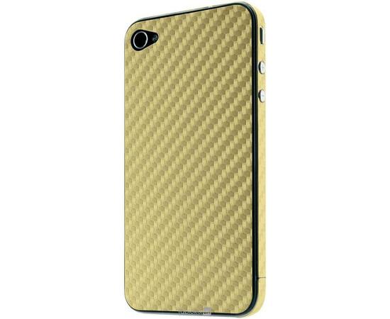 Карбоновая наклейка для  iPhone 4/4S GSW (Gold), фото , изображение 2