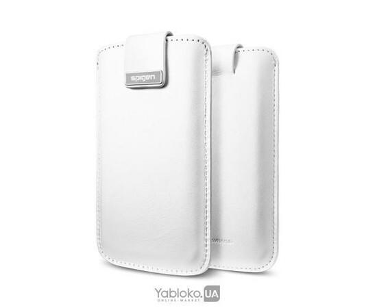 Чехол для iPhone 5/5S/SE SGP Leather pouch Crumena White (SGP09513), фото , изображение 2