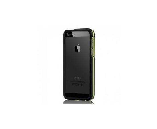 Чехол-бампер для iPhone 5/5S More Armor Metal Hybrid Ring (Black/Neon Yellow), фото