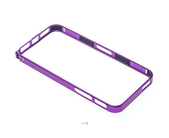Чехол-бампер для iPhone 5/5S/SE Cross-Line Aluminum Ultra Thin Bumper 0.7 mm (Purple), фото , изображение 3