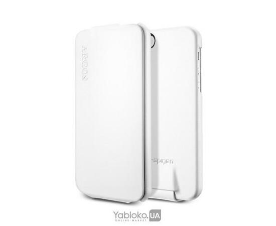 Чехол для iPhone 5/5S/SE SGP Leather Case Argos White (SGP09599), фото , изображение 3